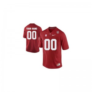 Bama High School Youth(Kids) Limited Customized Jerseys - Red 2013 BCS Patch