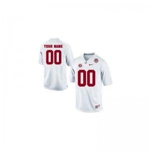 University of Alabama Official For Kids Limited Customized Jersey - White 2013 BCS Patch