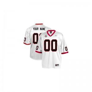 Georgia Football For Kids Limited Custom Jersey - White