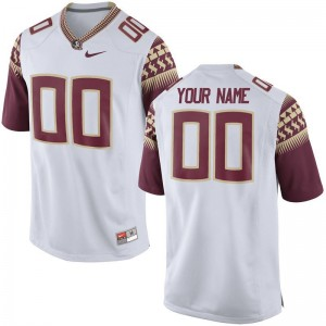 Seminoles Football Kids Limited Custom Jersey - White