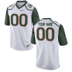 Miami Football For Kids Limited Customized Jerseys - White
