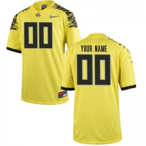 University of Oregon Football Youth Limited Customized Jerseys - Yellow