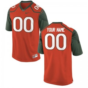 Miami Hurricanes High School For Kids Limited Custom Jerseys - Orange