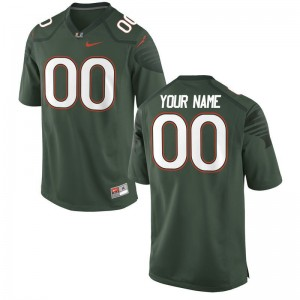 Miami Hurricanes University Youth(Kids) Limited Custom Jersey - Alternate Green