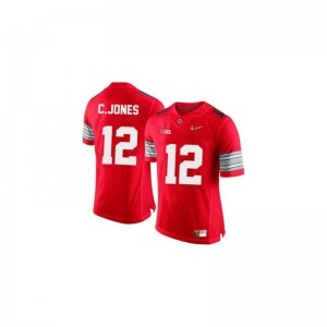 Cardale Jones Ohio State Official Youth(Kids) Game Jersey - #12 Red Diamond Quest Patch