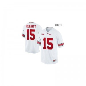 Ezekiel Elliott OSU College For Kids Game Jersey - #15 White