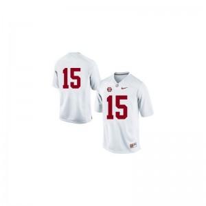 JK Scott University of Alabama University Youth(Kids) Limited Jersey - #15 White