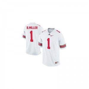 Braxton Miller OSU Buckeyes High School For Kids Limited Jerseys - #1 White