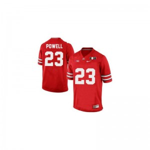 Tyvis Powell OSU Buckeyes Football Kids Limited Jerseys - #23 Red Diamond Quest 2015 Patch