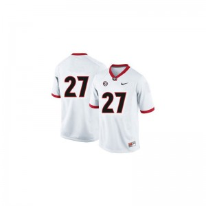 Nick Chubb UGA Bulldogs University Youth Game Jersey - #27 White