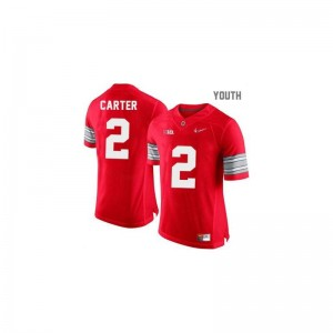 Cris Carter Ohio State College Kids Game Jerseys - #2 Red Diamond Quest Patch
