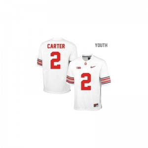 Cris Carter OSU University Youth(Kids) Game Jersey - #2 White Diamond Quest Patch