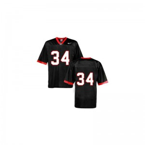 Herschel Walker Georgia Bulldogs Football For Kids Game Jersey - #34 Black