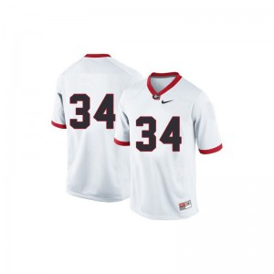 Herschel Walker UGA Bulldogs Football Youth Limited Jerseys - #34 White