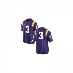 Kevin Faulk Tigers College Youth(Kids) Game Jersey - #3 Purple