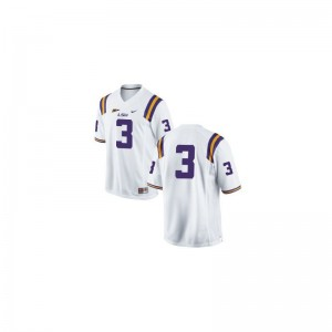 Kevin Faulk Tigers High School Youth(Kids) Limited Jerseys - #3 White