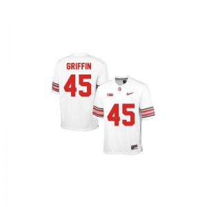 Archie Griffin Ohio State Official For Kids Limited Jerseys - #45 White Diamond Quest Patch