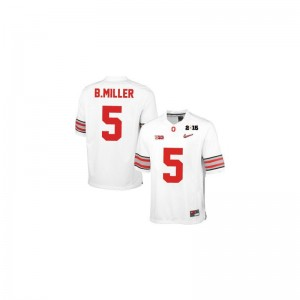 Braxton Miller OSU Buckeyes Official Youth(Kids) Game Jersey - #5 White Diamond Quest 2015 Patch