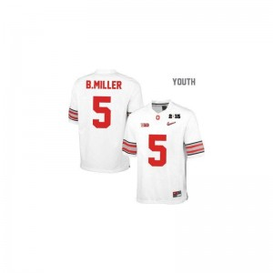 Braxton Miller OSU Buckeyes Official For Kids Game Jerseys - #5 White Diamond Quest National Champions Patch