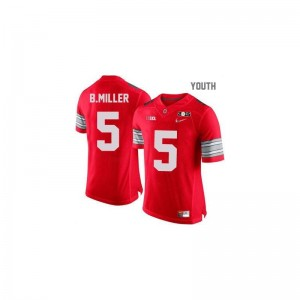 Braxton Miller Ohio State Football For Kids Limited Jerseys - #5 Red Diamond Quest National Champions Patch