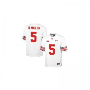 Braxton Miller OSU Player Youth Limited Jerseys - #5 White Diamond Quest Patch