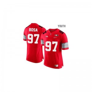 Joey Bosa Ohio State NCAA Kids Game Jersey - #97 Red Diamond Quest National Champions Patch