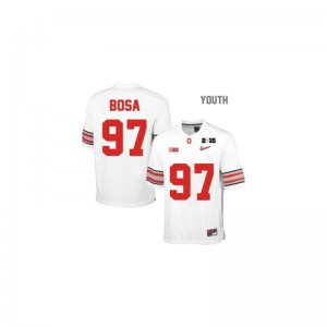 Joey Bosa Ohio State Buckeyes College For Kids Game Jerseys - #97 White Diamond Quest National Champions Patch