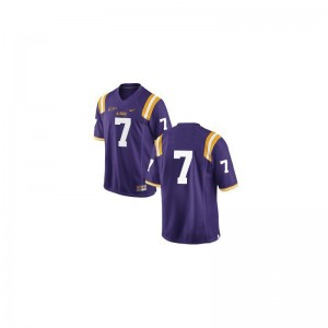 Bert Jones LSU Player Youth Game Jersey - #Purple