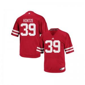 Zach Hintze UW College Men Authentic Jerseys - Red