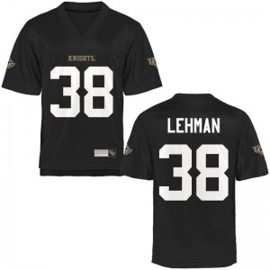 Zach Lehman UCF Knights University Mens Game Jersey - Black
