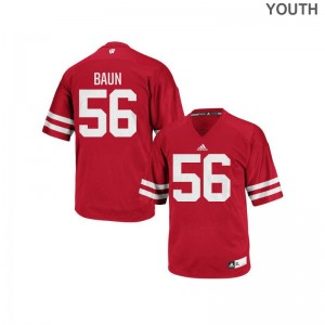 Zack Baun Wisconsin Badgers Football Youth Authentic Jersey - Red
