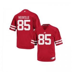 Zander Neuville Wisconsin Badgers High School Men Authentic Jerseys - Red